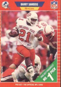Barry Sanders 1989 Pro Set Rookie Card RC #494 Detroit Lions