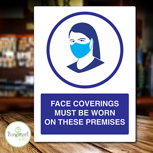Please Wear Face Mask Sticker metal sign Businesses Sign Stickers. A5 size