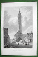 GERMANY Brunswick St. Andrew's Church - CPT BATTY Antique Print