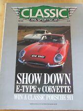 CLASSIC AND SPORTSCAR MAY 1988 E-TYPE CORVETTE KARMANN-GHIA PROFILE AUSTIN-HEALE