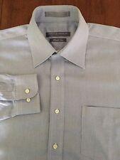 Men's Forsyth Of Canada L/S Blue Wrinkle Free Dress Shirt 16.5-36/37 Large