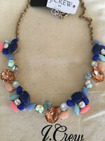 NWT J.Crew Factory Crystal paint party Beautiful Statement Necklace
