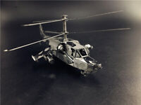 3D Metal model kit Helicopter Assembly Model DIY Laser Cut puzzle adult toys