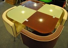Glass dining table and 4 chairs ==.( in 7 colours )
