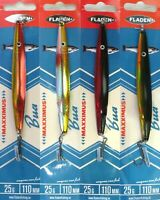 4 Fladen Maxximus Bua Spoon 25g 110mm Assorted Colours Lures Sandeel Bass Salmon