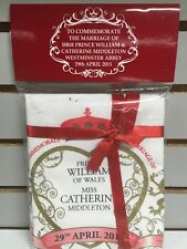 Prince William & Miss Catherine Marriage Tea Towels 2p 2011 NIP London UK cotton