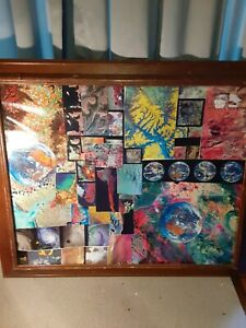 Original collage of space and planets 231/2 by 19 1/2 inches beautiful