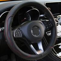 "PU Leather Car Steering Wheel Cover 15""/37-38CM Good Grip Universal Four Seasons"