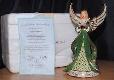 Bradford Exchange Heavens Radiant Glory Angel Of Peace Musical Figurine