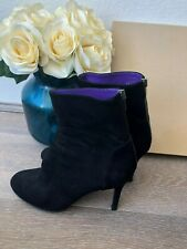 Sergio Rossi Black High Heel Zip Up Ankle Boots Size 39 AU 8