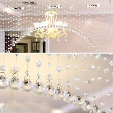 DIY Crystal Glass Acrylic Beaded Hanging Curtain String Wedding Home Decoration