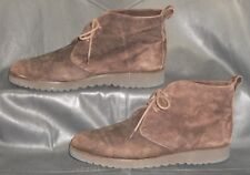 Cole Haan women's brown suede lace up ankle chukka boots shoes size 7 1/2 AA