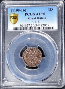 1199 - 1116 Great Britain 1 Penny, S-1351, PCGS AU 50, England, London Mint