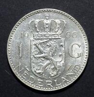 1966 Netherlands 1 Gulden - Juliana - Lot 596