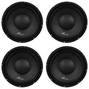 Audiopipe APSP-1050 10 Inch 700 Watt Dynamic Mid Range Car Loudspeaker (4 Pack)
