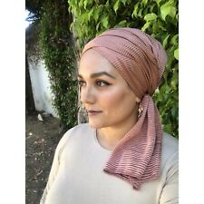 Pleated Long Wraps Shawl Scarf Tichel Women Hair Coverings Hijab Mitpachat