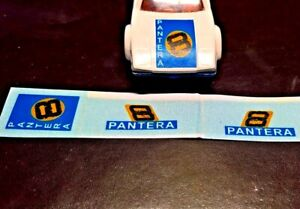 Matchbox Superfast No8 De Tomaso Pantera Stickers, (car not included)