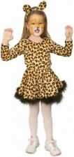 Girls Kids Leaping Leopard Cat Animal Jungle Fancy Dress Costume Outfit