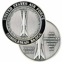 "AIR FORCE MISSILEMAN BADGE PROUDLY SERVED 1.75"" CHALLENGE COIN"