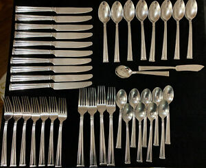 Lenox Lanford Stainless Flatware Lot 40 Pieces (F)