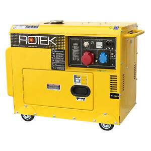 Stromerzeuger 5,5kVA Stromaggregat 400V Notstromaggregat Generator Diesel Silent