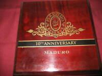 Perdomo Reserve 10Th Anniversary Maduro wood cigar box – box only, no cigars