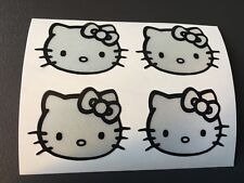 STICKER HELLO KITTY REFLECTIVE MOTORCYCLE HELMET SCOOTER FAIRING QUAD SECURITY