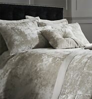 Catherine Lansfield Luxury Crushed Velvet Natural Duvet Cover Set or Accessories