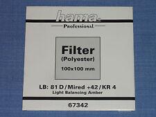 Hama filtro Wratten 100x100 LB kr4/81d