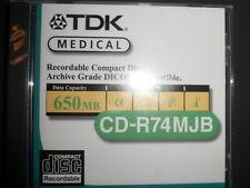 TDK Medical Recordable CD R74MJB 650 MB NIP