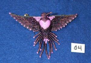 "Hummingbird Barrette 4"" Beaded French Clip closure Fair trade bead work #04"