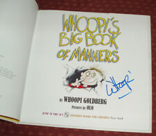 Whoopi's Big Book of Manners big children's book signed by Whoopi Goldberg HC