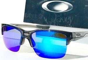 NEW* Oakley THINLINK Grey Smoke w POLARIZED Galaxy Blue lens Sunglass 9316