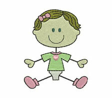 1075:  Machine Embroidery Designs - The Stick Family-Babies (Colored Version)