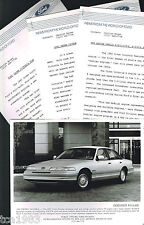 1991 Ford CROWN VICTORIA Press Kit Photo, Narrative for?Brochure, Vic '91
