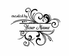 PERSONALIZED  CUSTOM MADE  RUBBER STAMPS UNMOUNTED C38