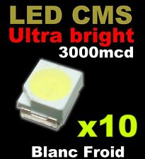 warm white 109//10# LED CMS Blanc chaud PLCC2 3528 10pcs 1200mcd