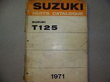 SUZUKI 1971 T125 PARTS CATALOG