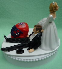 Wedding Cake Topper Florida Panthers Hockey Themed Sports Fans Fun Bride Groom