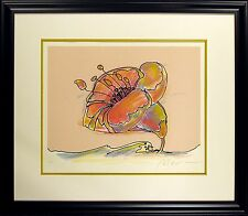 "Peter Max ""Flower at Sea"" Hand Signed & #ed Serigraph pop art 1979 MAKE OFFER!"