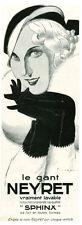 Publicité ancienne mode le gant Neyret 1932 issue de magazine