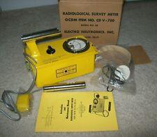 Eni Cd V 700 Model 6b Survey Meter Radiation Detector Geiger Counter With Box
