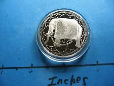 Indian Elephant India Symbol Of Good Luck Throughout India Silver Coin Sharp #B