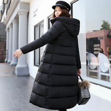 2018Fashion Women's Winter Down Coat Thick Long Cotton Parka Hooded Warm Jacket