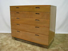 Mid Century Ed Wormley for Dunbar Bleached Mahogany Chest w/ Drop Down Desk