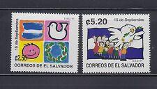 El Salvador 1997 Independence Sc 1467-1468  Mint Never Hinged