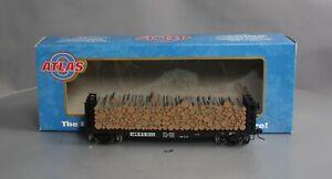Atlas 7286-4 O Scale ST.LB&M  Pulpwood Flat Car #1059 (2-Rail) EX/Box