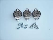 BELTON 9 pin 12AX7, EL84 tube sockets, TOP MOUNT, with hardware, 3 pcs