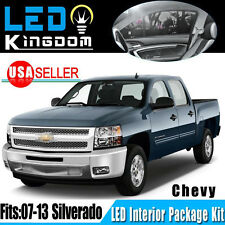 11 X Pure White LED Lights Interior Package Kit for 2007-2013 Chevy Silverado