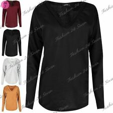 Polyester V Neck Plain Sweatshirts for Women